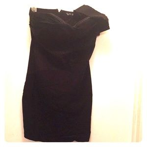 One strap black dress- A11